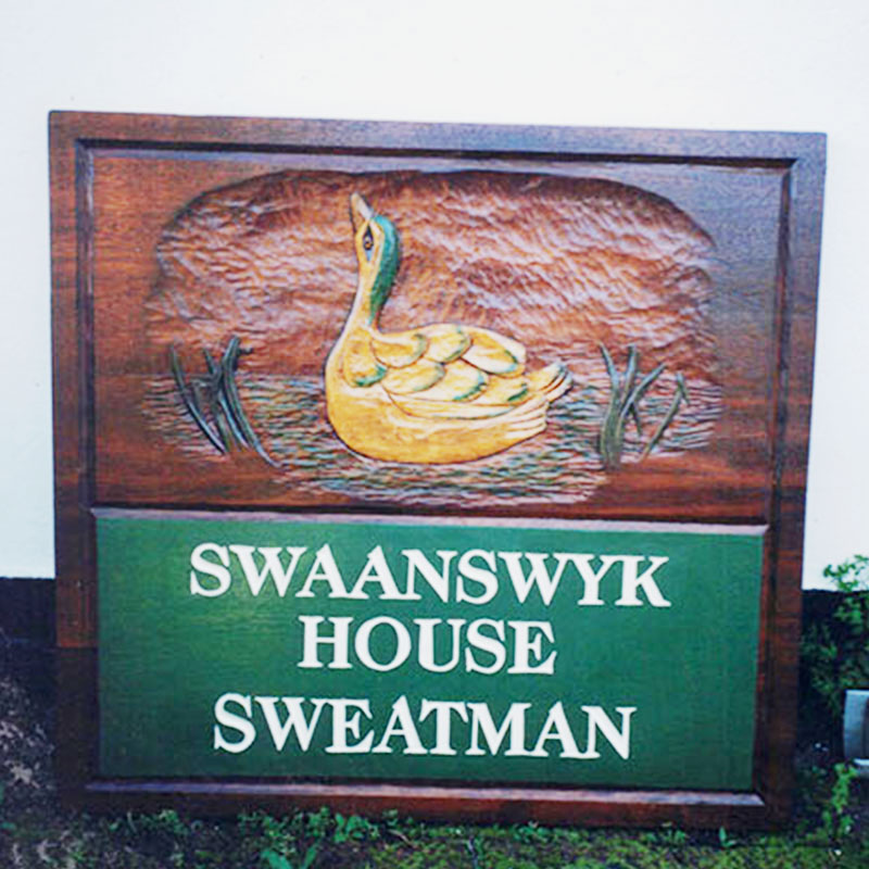 Swaanswyk House - Carved Wooden Signs