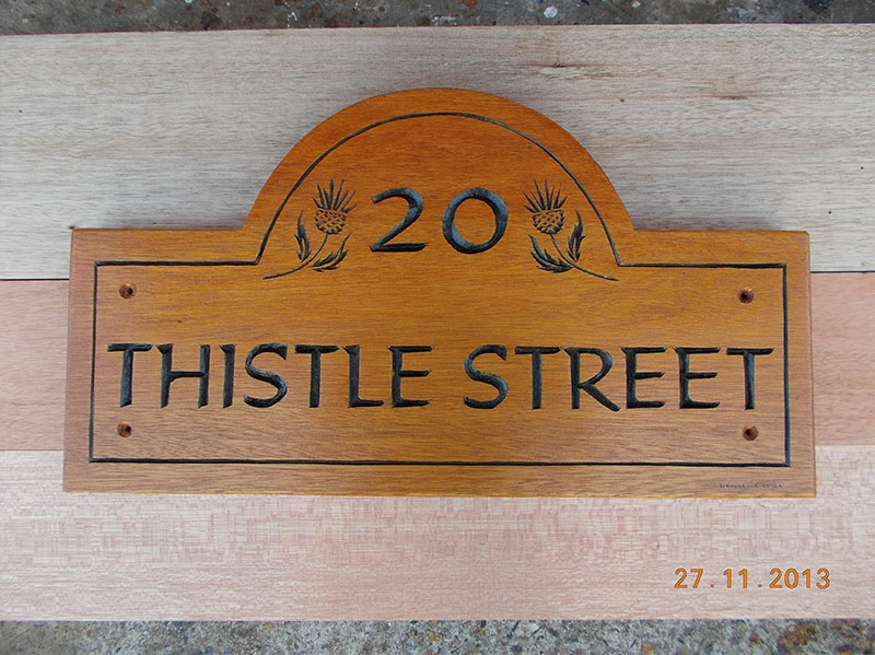 Thistle Street | House Sign